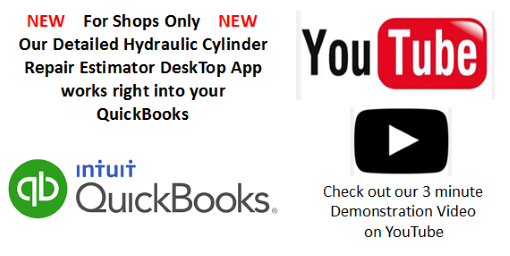 Hydraulic Cylinder Repair Estimator DeskTop works with QuickBooks